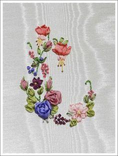 Ribbon embroidery - pattern by Coeur de Freesia
