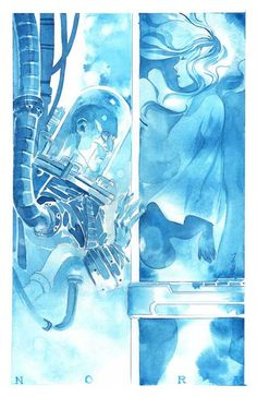 Mr. Freeze and his wife by Dustin Nguyen. Dustin posted this picture in honor of Michael Ansara, the voice actor in Batman: TAS, who recently passed at 91.