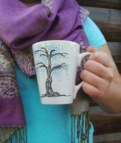 Zen Tree Mugs - Hand-painted, personalized coffee or tea mug