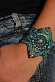 Beautiful and Attractive Patina Cuff bracelet