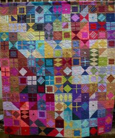 Let's Polka by Quilt Designs by Candac on Etsy. These colors pop!