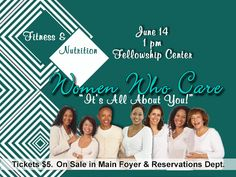 """Fitness and Nutrition from the best…Join Women Who Care as they present Nutrition and Fitness experts, Robert Ferguson and Michael Blanks for a discussion on """"taking good physical care of you"""" on Sunday, June 14, immediately following service in the Fellowship Center. Get your tickets today in the Main Foyer or in Reservations 323.758.3777"""