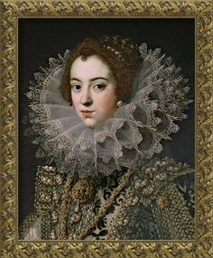 A French princess becomes Queen of Spain - Elisabeth of France (22 November 1602 – 6 October 1644) was Queen consort of Spain (1621 to 1644) and Portugal (1621 to 1640) as the first wife of King Philip IV of Spain. She was the eldest daughter of King Henry IV of France and his second spouse Marie de' Medici. Painting circa 1620-21 in the Prado museum by Rodrigo de Villandrando