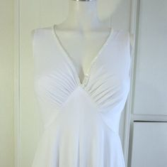 Vintage Ladies White Negligee with white sequins by Timelesspeony