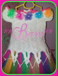 Vestidito crochet mas tul