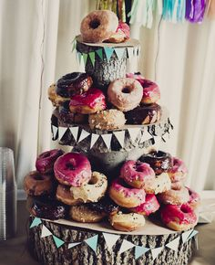Couples That Didn't Serve Cake - Donut Tower!   Khaki Bedford Weddings   Blog.TheKnot.com