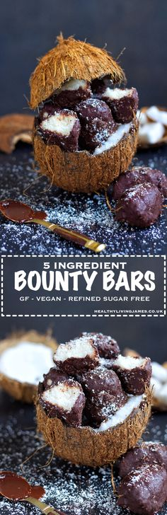 These mini bounty bars are gluten free, vegan and refined sugar free with only 5 easily sourced ingredients compared to the 12 in the original bar. Click directly on the image for the recipe!