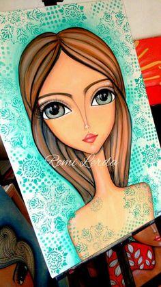 Painting People, Painting For Kids, Art Pop, Art Journal Pages, Portrait Art, Portraits, Frida Art, Human Art, Eye Art