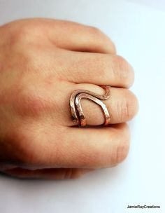 Artistic Raw Copper Ring Hand Forged Hammered by JamieRayCreations