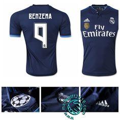Maillot foot Real Madrid CF (BENZEMA 9) Troisième 2015/16