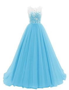 BARGAIN-NET EZYBUY (USA): Apparel: Dresstells® Women's Long Tulle Prom Dress Dance Gown with Lace