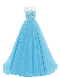 BARGAIN-NET EZYBUY (USA): Apparel: Dresstells® Women's Long Tulle Prom Dress Dance Gown with Lace