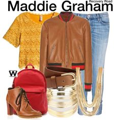 Inspired by Jessica Sula as Maddie Graham on Recovery Road. Jessica Sula, Tv Show Outfits, Character Outfits, Recovery, Abs, Gucci, Shoe Bag, Polyvore, Nerdy Things