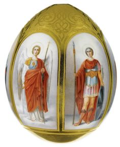 Mostly large Imperial Porcelain Easter Eggs