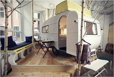bring the outdoors in - camp kids room idea