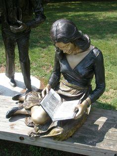 Hanneorla Hanneorla -- Seward Johnson 'The Reader' 1980, Ursinus Sculpture Park, Collegeville, Pennsylvania