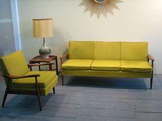 Mid Century Modern Danish, vintage sofa, Adrian Pearsall couch chair set | eBay