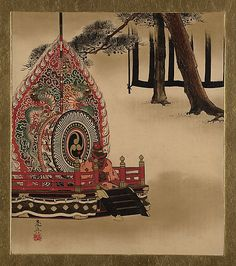 Lacquer Paintings of Various Subjects: Drum for Gagaku Dance Shibata Zeshin (Japanese, 1807–1891) Period: Meiji period (1868–1912) Date: 1882 Culture: Japan Medium: Lacquer on paper