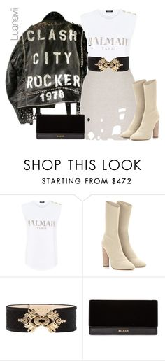 """Senza titolo #214"" by luanavii on Polyvore featuring moda, Balmain e adidas Originals"