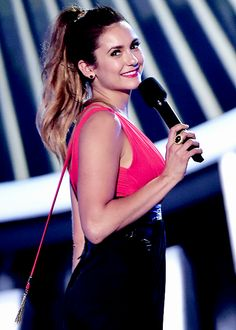Nina Dobrev at the 2014 MTV Video Music Awards