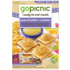 peanut butter + crackers (GoPicnic Meal)