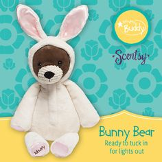 Scentsy Buddy | Bunny Bear - available now while supplies last!   Mwidmer.scentsy.us  Facebook:    Scentsy by Molly Widmer