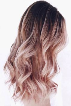 Black & Rose Gold ❤ Are you looking for ombre hair color ideas? We have collected the hottest and most gorgeous looks for you to try. See them before going to a salon. ❤ blond Ombre Hair Looks That Diversify Common Brown And Blonde Ombre Hair Gold Hair Colors, Hair Dye Colors, Ombre Hair Color, Hair Color Balayage, Ombre Highlights, Brown Balayage, Rose Gold Balayage, Cute Hair Colors, Best Hair Color