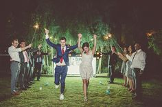 wedding marquee + sparkler exit shot by Paco & Betty