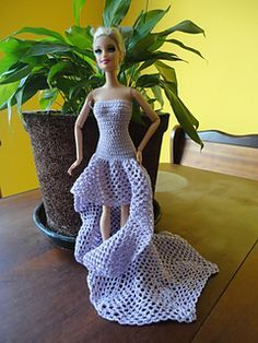 Barbie Doll Long Dree - Free Ravelry Download