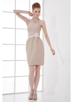 Cheap bridesmaid dress wedding, Buy Quality bridesmaid dresses directly from China wedding party dress Suppliers: Satin Sheath Sweetheart Sleeveless Flowers Beading Short Mini Length Bridesmaid Dresses Wedding party dresses robe de soiree Romantic Bridesmaid Dresses, Discount Bridesmaid Dresses, Bridesmaid Dresses Plus Size, Wedding Party Dresses, Gown Wedding, Wedding Events, Evening Gowns On Sale, Gold Evening Dresses, Strapless Cocktail Dresses