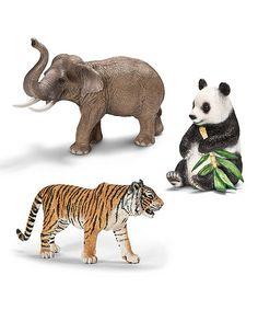 Love this Asia Wildlife Figurine Set by Schleich on #zulily! #zulilyfinds
