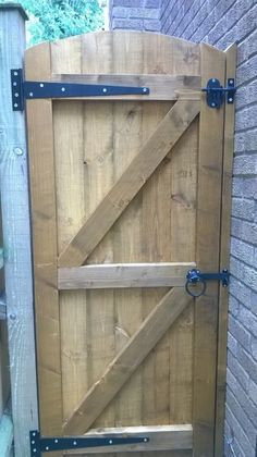Wooden Garden Gates Full - E Timber Products Wooden Side Gates, Building A Wooden Gate, Wooden Garden Gate, Fence Doors, Wood Doors, Backyard Gates, Fence Gate Design, Timber Products, Wrought Iron Gates