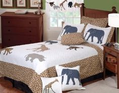 Greenland Home Fashions Jungle Story Full/Queen 3-Piece Quilt Set :   Customer Discussions and Customer Reviews.