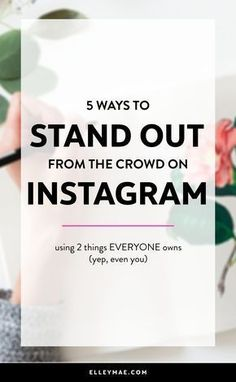 Are you ready to finally make a difference & truly stand out on Instagram? Learn how to infuse personality into all you do & become an Insta-success now.
