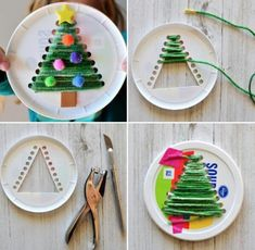 Dekoration Weihnachten – 4 Awesome DIY Easy Christmas Ornaments Design Ideas 4 Awesome DIY Easy Christmas Ornaments Design Ideas Source by cocobinnsLove these string trees!christmas crafts for kids to make easy - SalvabraniChristmas tree in the paper pl Preschool Christmas, Christmas Crafts For Kids, Christmas Activities, Christmas Projects, Holiday Crafts, Kids Crafts, Diy Crafts To Do, Tree Crafts, Metal Christmas Tree