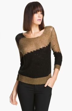 Alice + Olivia 'Opal' Metallic Knit Sweater available at #Nordstrom