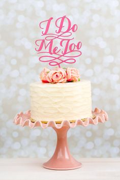 Wedding Cake Topper by Better Off Wed on Etsy