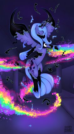 Princess Luna Breaking Free by SleepyHeadKL.deviantart.com on @deviantART