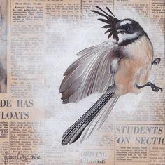 NZ's The Times, August 1967 by Jane Crisp - prints Bird Tattoo Sleeves, New Zealand Art, Nz Art, Maori Art, Kiwiana, Inspirational Artwork, Bird Pictures, Mixed Media Artists, Retro Art