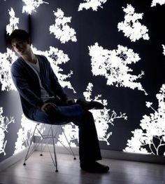 Light Emitting Wallpaper from Lomox: I am not sure how this is done, but I love it!!!