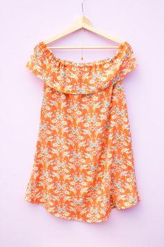 DIY Schulterfreies Kleid selber nähen