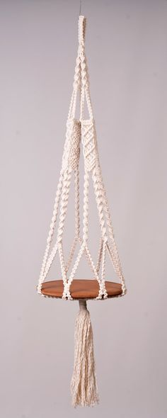 Suspension suspension table ou plante en off coton 5 mm blanc, cordon, moderne, décoration maison décoration et fleur porte, cadeau de douche de boho en Macrame