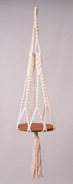 Suspension suspension table ou plante en off coton 5 mm blanc, cordon, moderne, décoration maison décoration et fleur porte, cadeau de douche de boho en Macrame