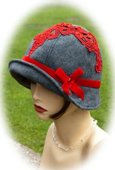 Fabulous Flapper vintage  Chic  CLOCHE  style1920s by aileens4hats, £30.00
