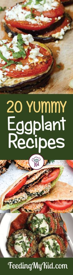 Try these amazing eggplant recipes! From eggplant lasagna to an eggplant dip. These recipes are perfect for lunch and dinner! Feeding My Kid is a filled with all the information you need about how to raise your kids, from healthy tips to nutritious recipes. #FeedingMyKid #eggplantrecipes #eggplant #recipes