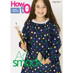 Long sleeved art smock - free pattern (pattern pieces are in download).