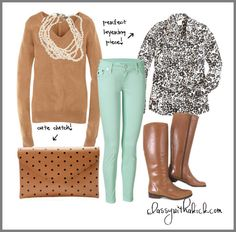 Neutral Layers - Mint Skinny Jeans