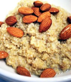 Clean Eating Recipes | Clean Eating Banana Almond Quinoa...@Chloe clementine...Artem should try this, it has his almonds and bananas!