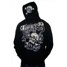 LUCKY 13 USA Made Ye Old Death or Glory Skull Zip Hoodie Mens Shirt (Apparel)  http://www.1-in-30.com/crt.php?p=B006N0F1WS  B006N0F1WS