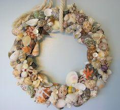 Beach Decor Shell Wreath